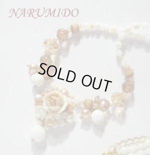 画像1: ボンボン薔薇と桜草のネックレス カシミア キット 半額セール