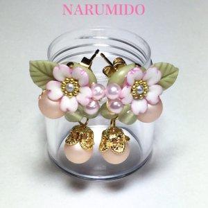 画像1: 桜とパールの春色ピアスorイヤリング