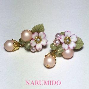 画像2: 桜とパールの春色ピアスorイヤリング