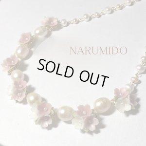 画像1: 桜草ブーケのプリンセスネックレス