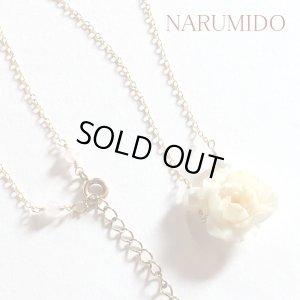 画像1: 在庫処分Sale!  桃の花のネックレス